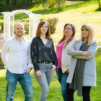 Wolfgang Eichinger, Judith Braun, Claudia Mayer Lottes, und Katrin Prechtl von Therapie am Anger
